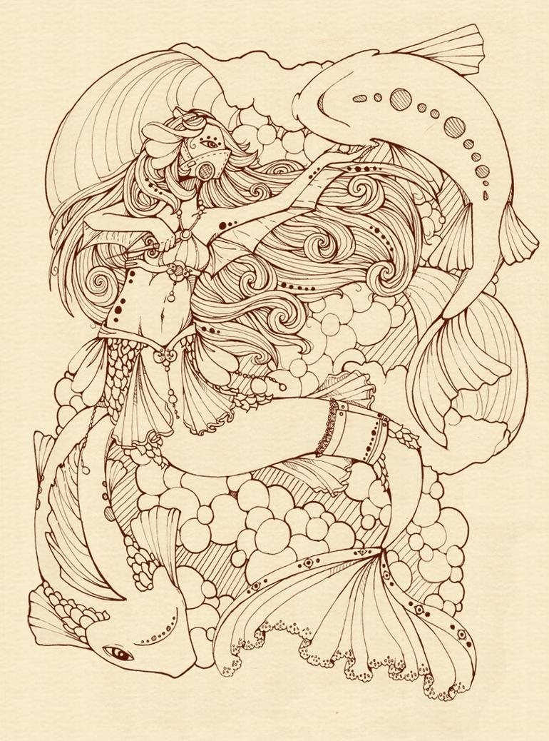 steampunk mermaid by InAnOrdinaryWay