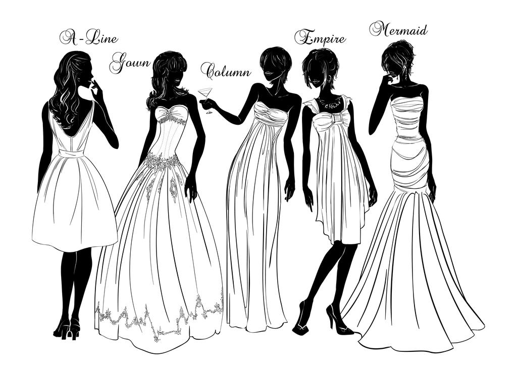 Hot Girl Etiquette: Dress Silhouette by Bouxjie on DeviantArt