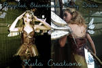 Recycled Paper Steampunk Fairy Dress by KulaCreations
