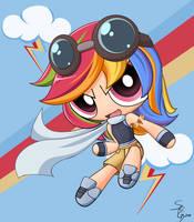 PonyPuffs: Rainbow Dash by DJ-BLU3Z