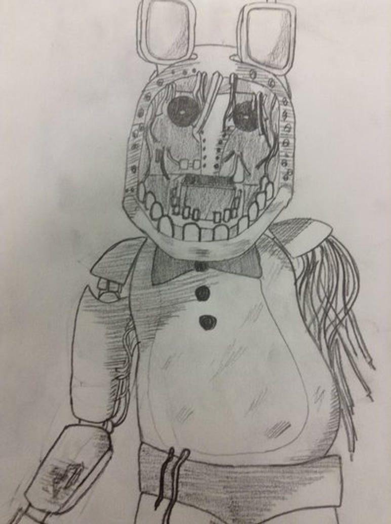 Withered Bonnie 2nd Angle By Murder 0f Crows On DeviantArt