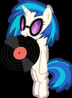 Vinyl Scratch Holding Record by Spyro4287