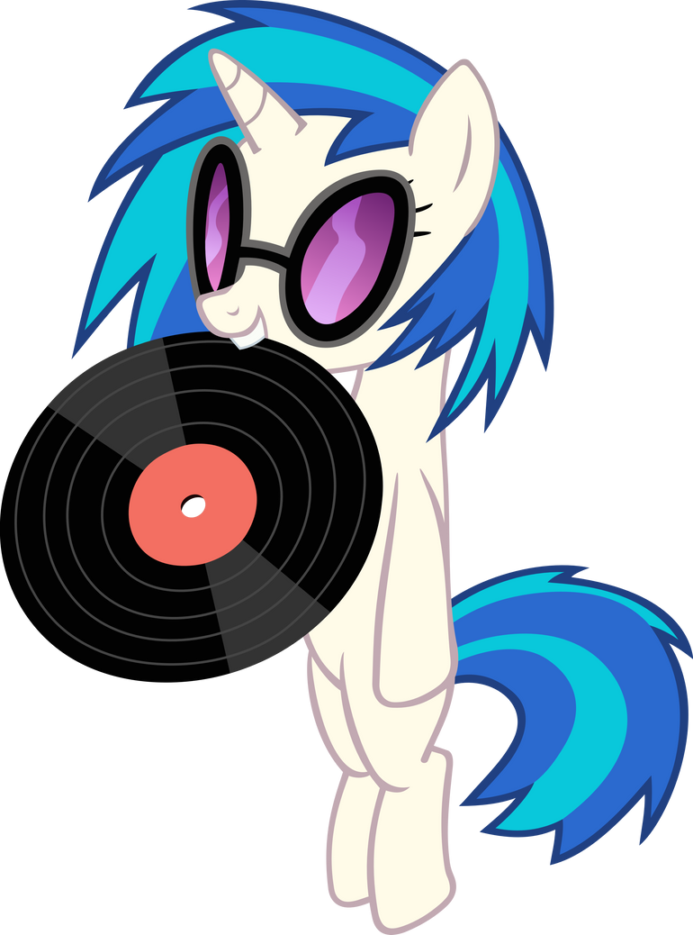 Vinyl Scratch Holding Record by Spyro4287