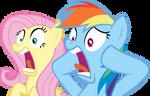Fluttershy and Rainbow Dash Shocked