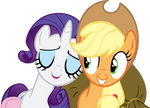 Request from dcencia Rarity and Applejack