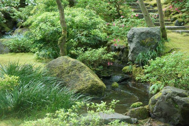 Garden Stream by BeanSprout-Photog