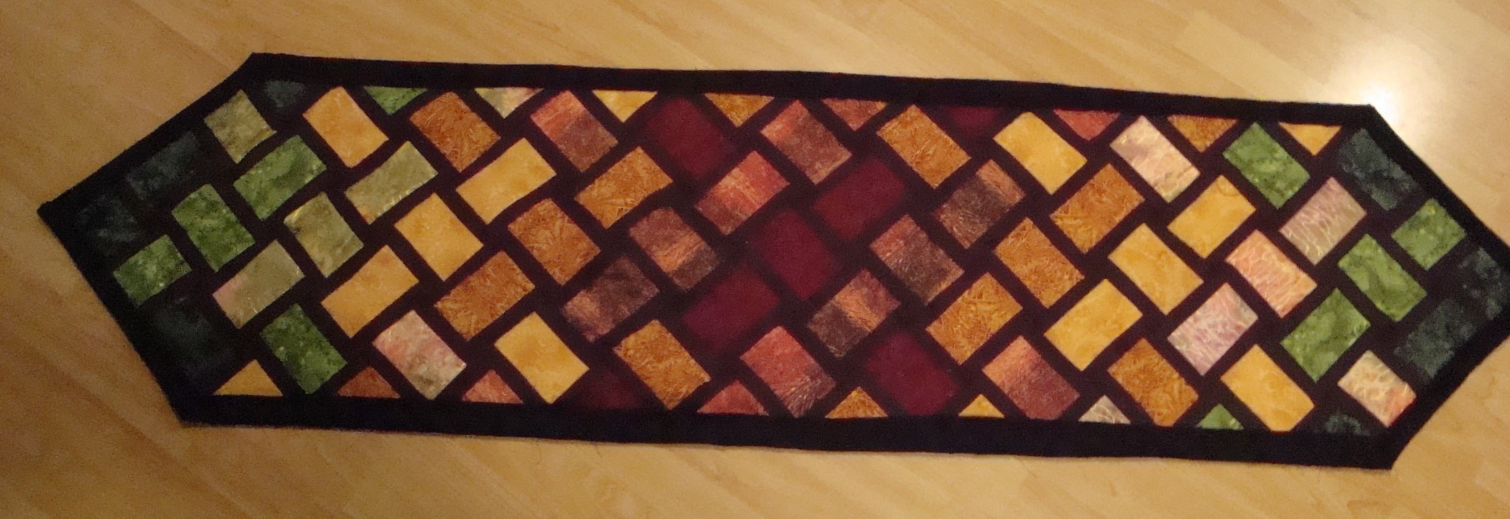 large table img marcia quilting s quilted striped quilt sewing crafty runner