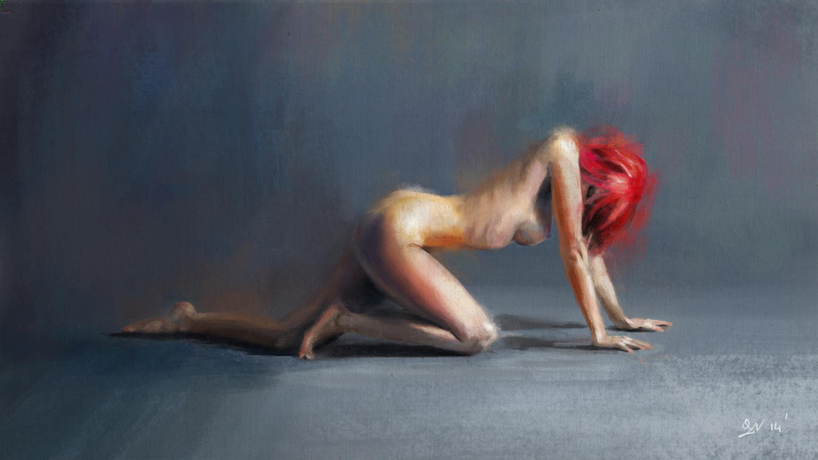 Red Head figure study by gregoo23