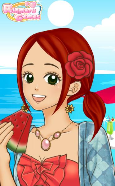 Anime beach girl by sun711 on deviantart - Beach anime girl ...