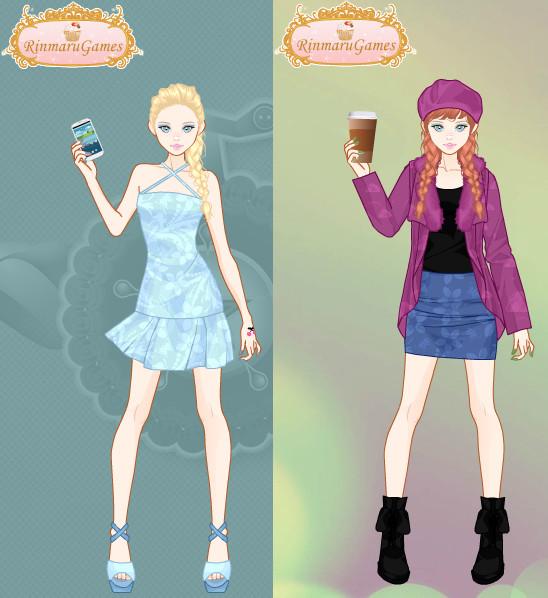 Anna And Elsa Mega Street Fashion By Sun711 On Deviantart