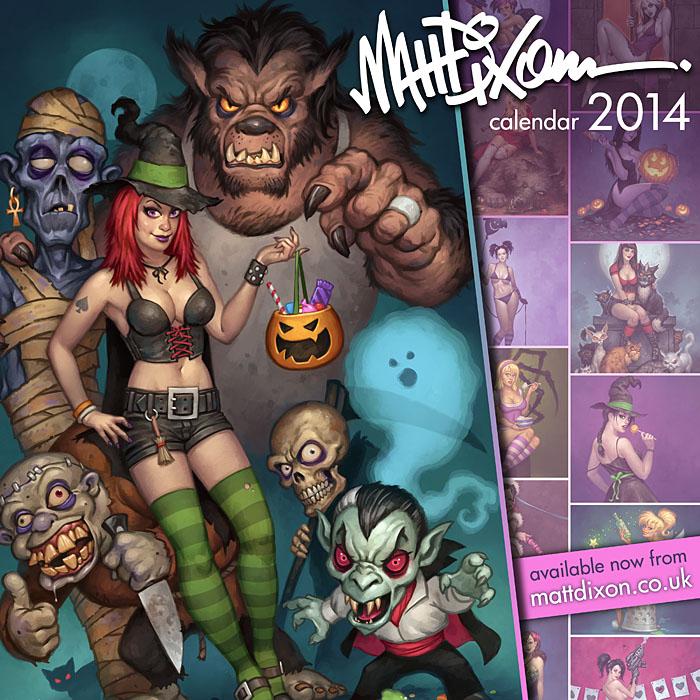 Art of Matt Dixon 2014 calendar by MattDixon