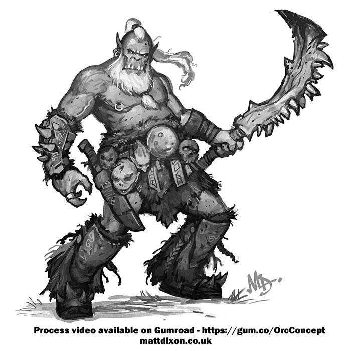 Orc Concept by MattDixon