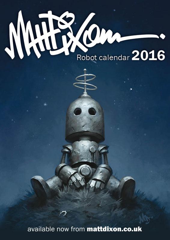 2016 Robot Calendar by MattDixon