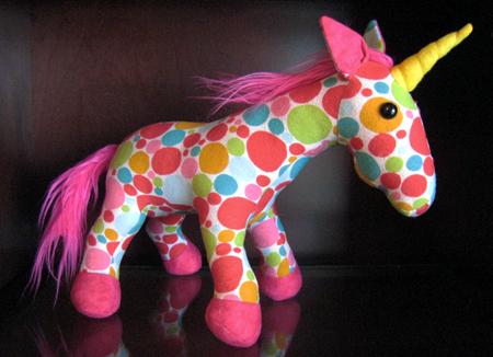 Polka Dot Unicorn Plush by omgitsalisa