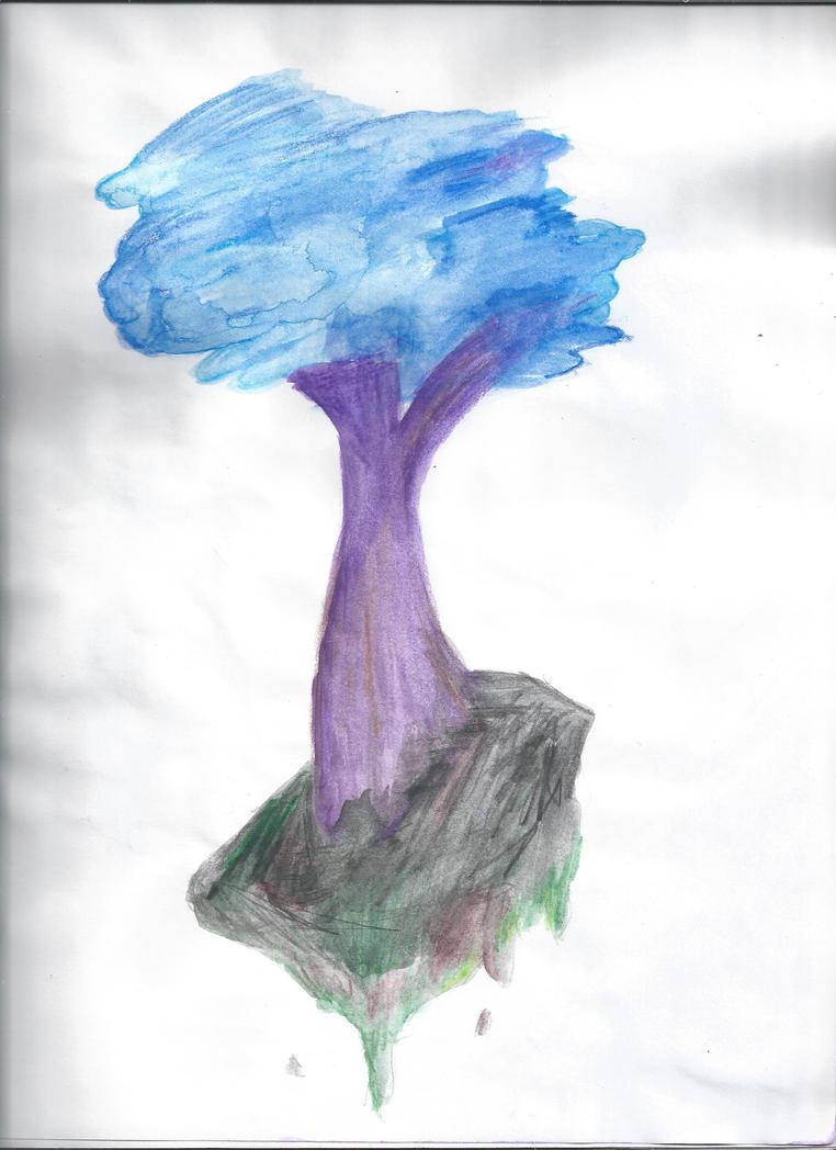 Dead floating tree by Michellex0x