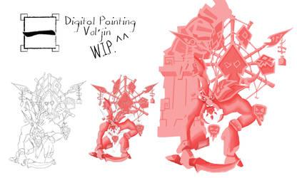 Digital Painting 2019 - Vol'Jin *wip*