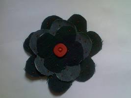 Denim Flower Badge by SewAndSew