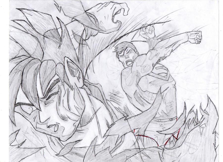 GOKU VS SUPERMAN by SORA-APPROVES on DeviantArt