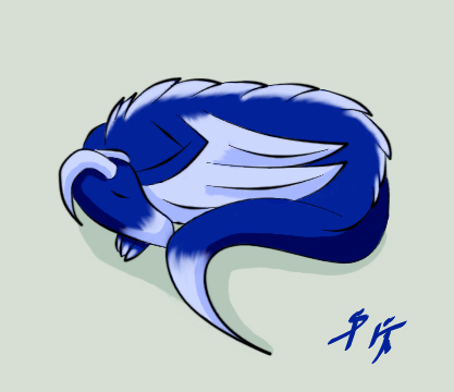 Sleeping Dragon by SilverPhantom