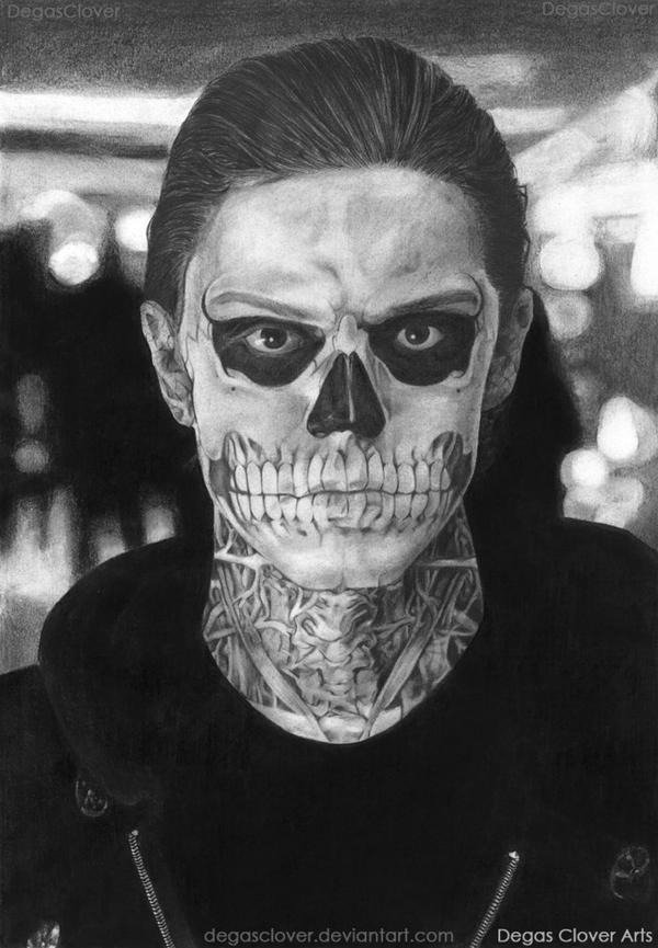 Tate Langdon (pencil drawing) by DegasClover