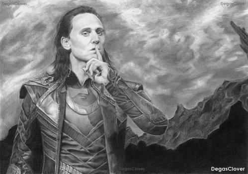 Loki (pencil drawing)