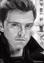 Pencil drawing: Sebastian Stan by DegasClover