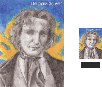 Eighth Doctor - Pencil Mini portrait by DegasClover