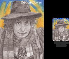 Fourth Doctor - Pencil Mini portrait