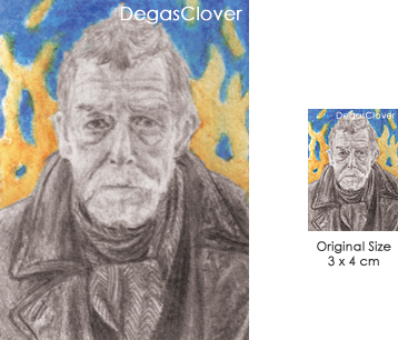 War Doctor - Pencil Mini portrait by DegasClover