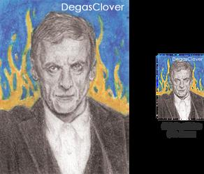Twelfth Doctor - Pencil Mini Portrait