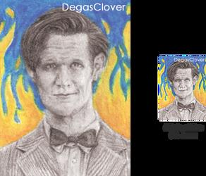 Eleventh Doctor - Pencil Mini Portrait
