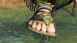 Lara Croft feet 1 - Shadow of the Tomb Raider