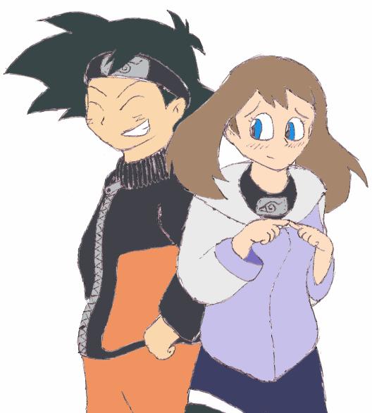 Ash and Mays NaruHina cosplay by Gaiash