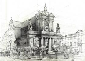 Carmelite Church, Warsaw by ZW1138