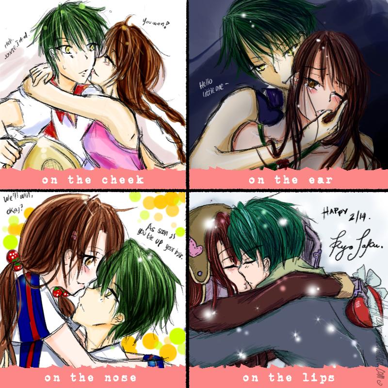 Four Kisses By Ceyrai