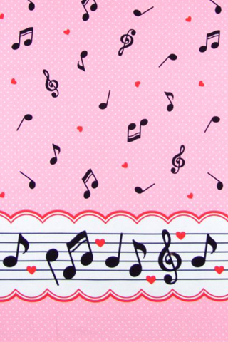 Music notes dots pink by Yvette-chan on DeviantArt