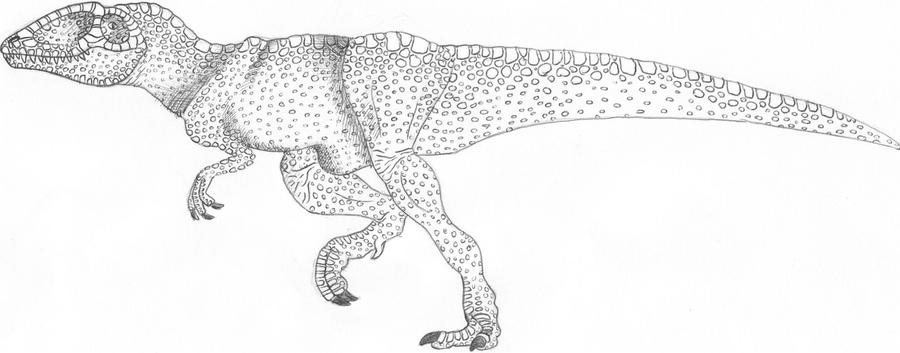 Running carcharodontosaurus by spinosaurontop on deviantart for Carcharodontosaurus coloring page