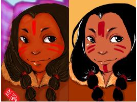 inuit girl by Mischikun