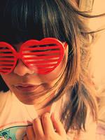 Heart Shaped Glasses by lunascissorhands