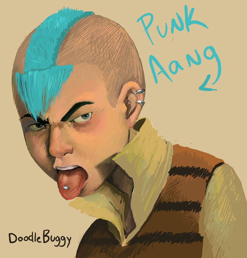 Avatar Aang With Hair: Punk Aang By DoodleBuggy On DeviantArt