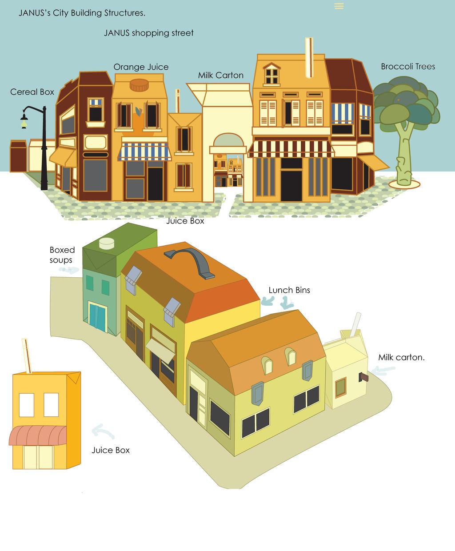 Janus Buildings by DoodleBuggy
