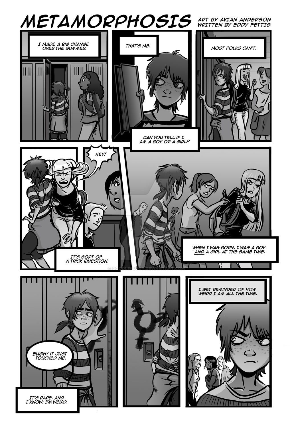 Metamorphosis Page 1 by DoodleBuggy