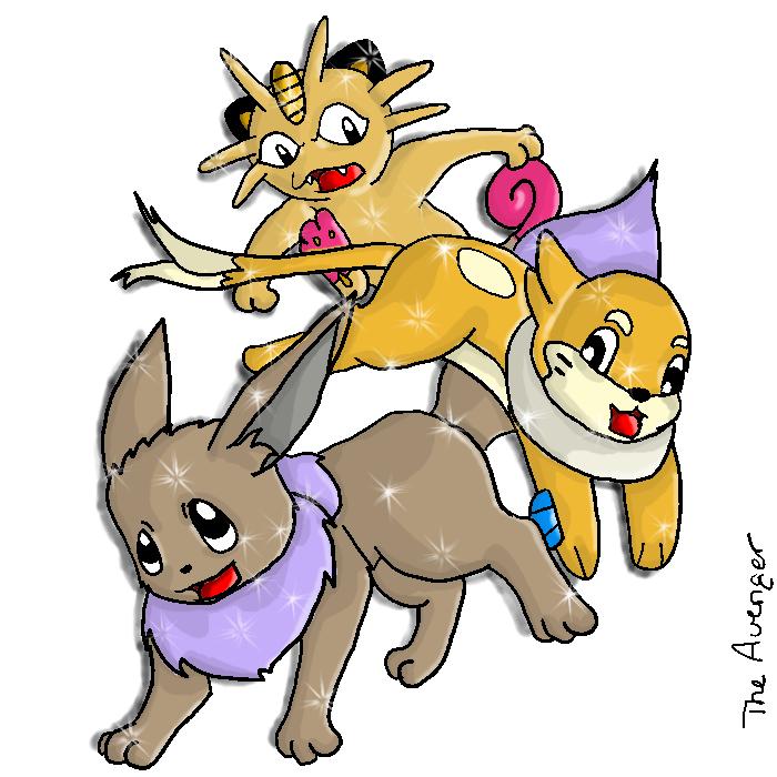 Pokemon Lineart: Shiny by Avi-the-Avenger