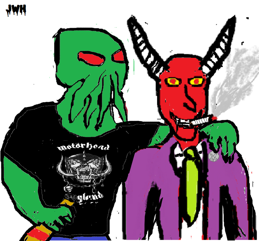 cthulhu and satan bff by vampirefallensoul on deviantart