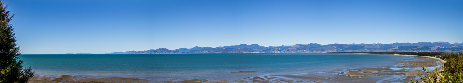 Panoramic view from Ruby Bay, Tasman, NZ by therealpegleg