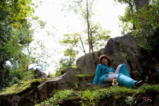 Nausicaa Cosplay: Up On the Hill