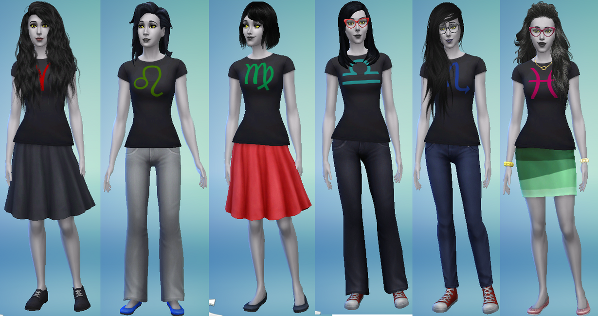 Homestuck Troll Girls In Sims 4 By EcstaticRadish