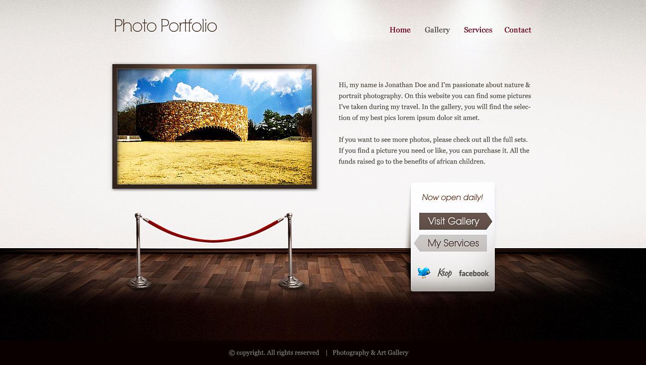 art gallery html wp template by webcrafters on deviantart. Black Bedroom Furniture Sets. Home Design Ideas