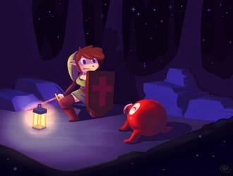 An Encounter with Octorock! by Brellom