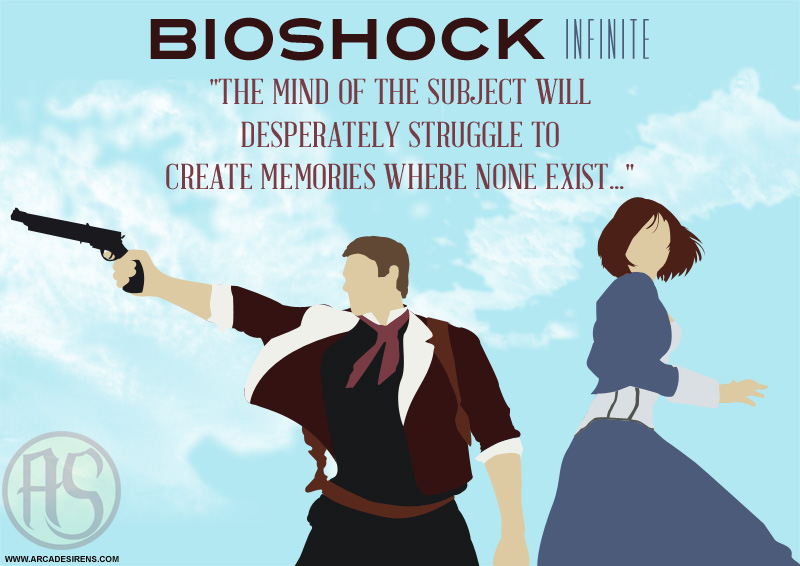 Booker And Elizabeth BioShock Infinite Print By ArcadeSirens